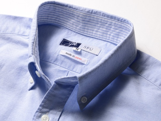 オックスボタンシャツ襟