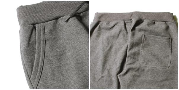 スウェットパンツのポケット