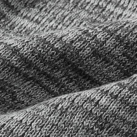リブ編みショールカラーコットンニットの生地
