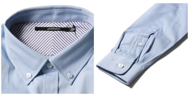 オックスフォードメンズシャツ襟袖