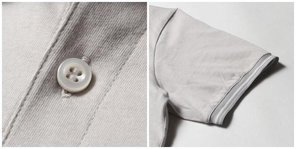 オーディエンスノーネックバンド半袖ポロシャツボタン・袖