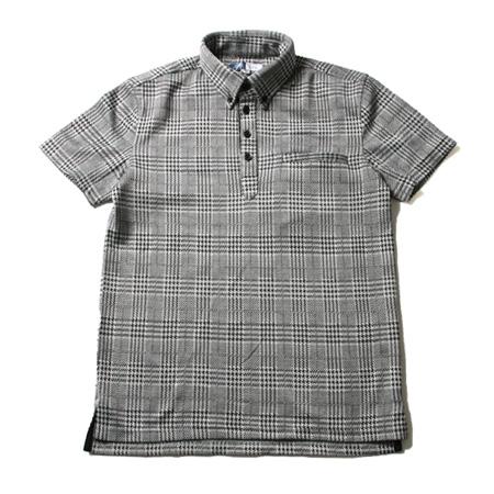 グレンチェック半袖ポロシャツ